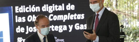 S.M. el Rey Felipe VI preside la presentación de la Edición digital de las Obras completas de José Ortega y Gasset